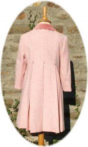 Girl's classic coat back