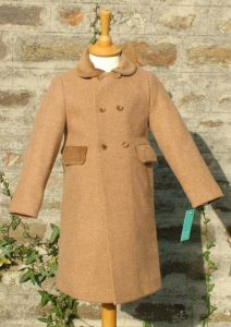 Child's classic coat in camel tweed