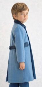 Child's 100% wool winter coat