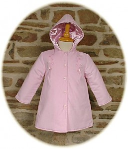 Baby girl's hooded coat