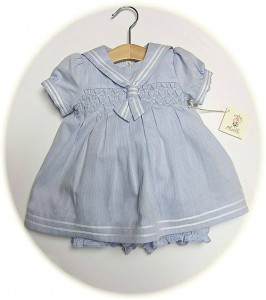 Baby girl's sailor dress and bloomers