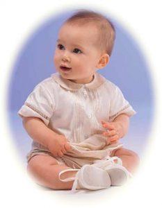 Baby's silk romper