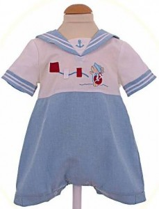 Baby's sailor romper