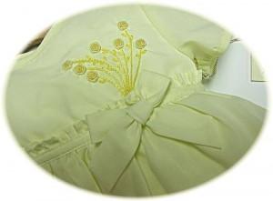 Baby girls spring dress detail