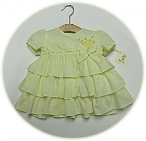 Baby girls spring dress and knickers