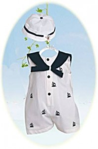 Baby boy's sailor suit