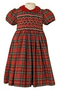 Little girl's tartan dress