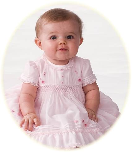 Smocked baby dress from Sarah Louise