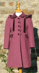 """Helen"" girl's coat in Heather Tweed"