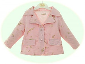 Baby's jackets from Abella in pink needlecord.