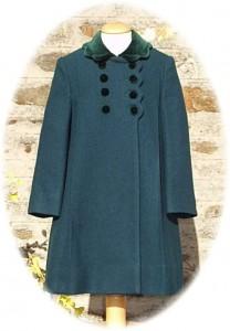 Girl's traditional wool coat