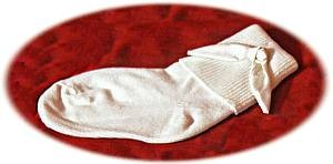 White cotton socks