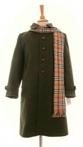 Child's traditional green Loden coat