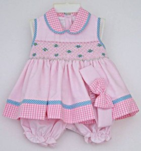 Baby girl's summer dress and bloomers