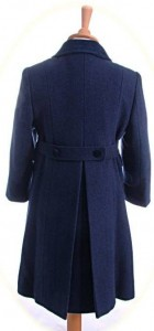 Child's 100% wool coat back view