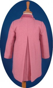 Child's traditional coat back view
