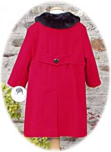 Girl's classic coat back view