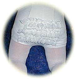 Frilly bottom tights