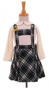 Little girl's tartan skirt