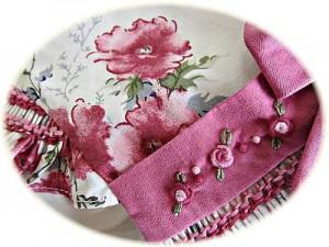 Little girl's floral dress detail