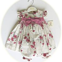 Smocked baby girl's dress