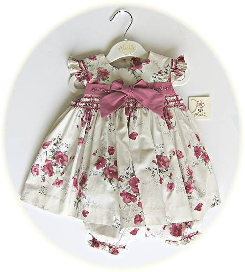Smocked baby girl's dress