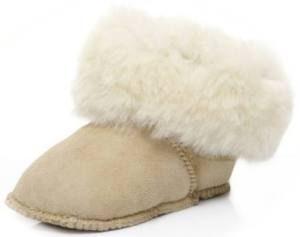 Babies' warm sheepskin boots