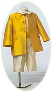 Page Boy Suit in gold