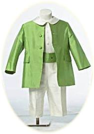 Page Boy Suit in green