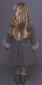 Amelie girls'winter coat back view