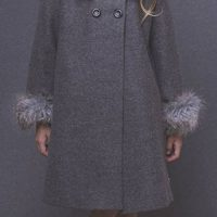 girls winter coat with fur trim