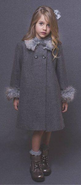 girls winter coat with fur trim