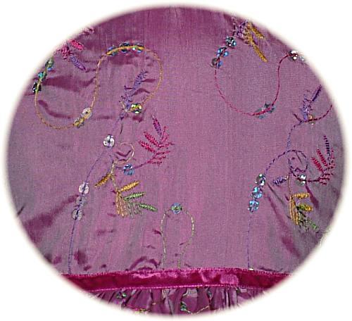 Little girl's party dress detail