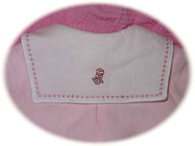 Baby's suit back collar