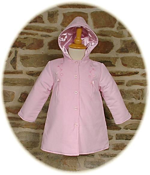 Baby girl's hooded coat