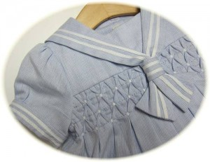 Baby girl's sailor dress detail