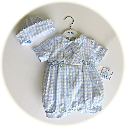 Baby boy's smocked romper