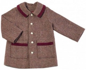 Girl's coat in Irish Tweed