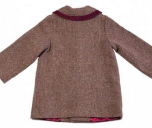 Girl's coat in Irish Tweed - back view