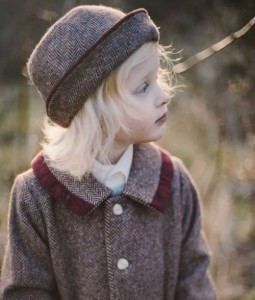 Girl's Donegal tweed coat and hat