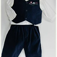 Baby boy's velvet suit