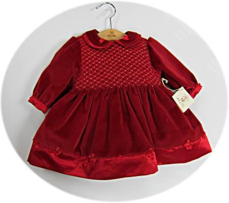Baby's smocked velvet dresses