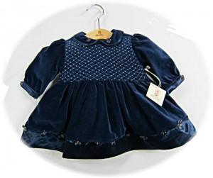 Baby's velvet dress