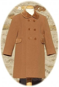 Childs traditional coat in camel