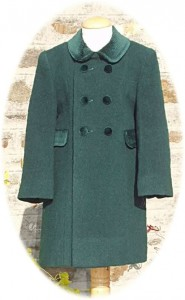 Childs traditional coat in green