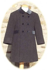 Childs traditional coat in grey