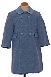 Childs traditional coat in light blue