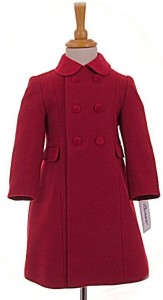Childs traditional coat in red
