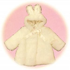 Baby's coat with bunny ears