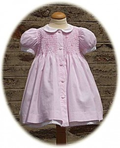 Baby's smocked gingham dress